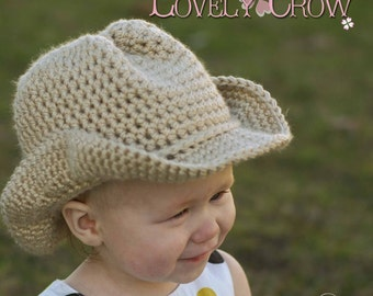 Baby Crochet Pattern Cowboy Hat  for BOOT SCOOT'N Cowboy Hat digital