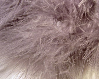 Gray Marabou Feathers MRDQ-13 Craft feathers .25 oz