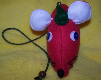 mouse with Hat cat toy