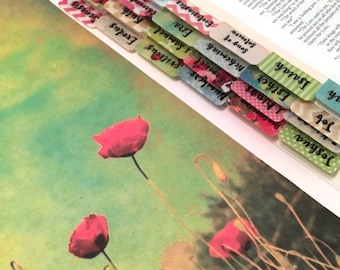 "CATHOLIC ""Poppy Impressions"" Multicolored Books of Bible Tabs by Victoria Anderson"