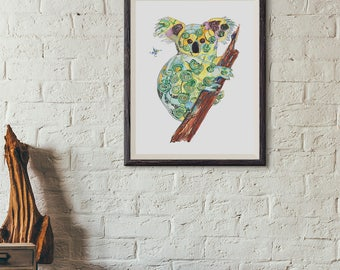 Koala - limited edition print from original // Home Decor // 13 x 19, 11 x 14, 8 x 10