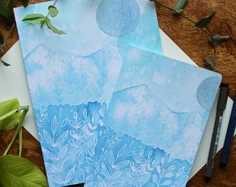 Blank Notebook, Journal or Sketchbook - Water Image