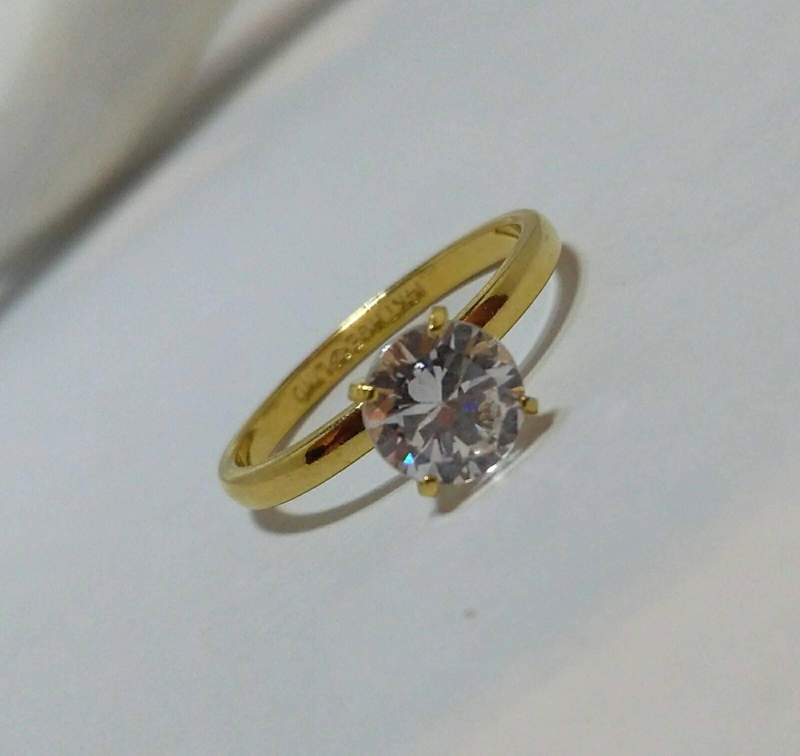 Unique Vintage Solitaire Ring, Engagement Ring, Wedding Ring, 14KT HGE  AI78