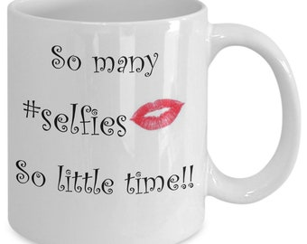 So many selfie coffee mug