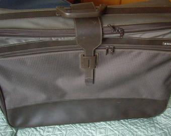 large suitcase, Samsonite, fabrics, zipped retro luggage, Vintage 80's