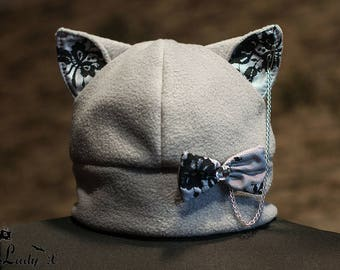 Pussy hat Cat Hat Cat Ears Beanie Women's Hat cat ear hat fleece cap
