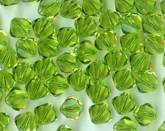 T4 5301 LO *** 20 bicone beads crystal Swarovski 5mm LIGHT OLIVINE