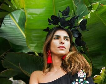 Elegant Black Fascinator, Black Headpiece, Derby Headpiece, Headband, Derby, Elegant, Chic