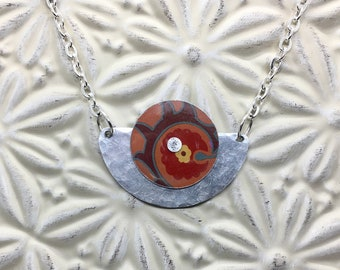 Recycled / Upcycled Aluminum and Cookie Tin Necklace