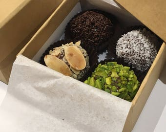 4 Brazilian Chocolate Truffles | Brigadeiro Gourmet