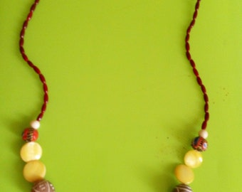African Necklace with different beads from africa