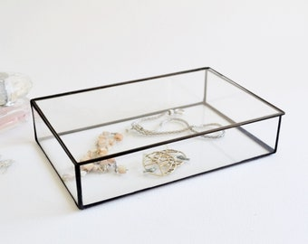 Glass Box Glass Display Box Glass Jewelry Box Wedding Display Box Clear Glass Jewelry Box Made To Order
