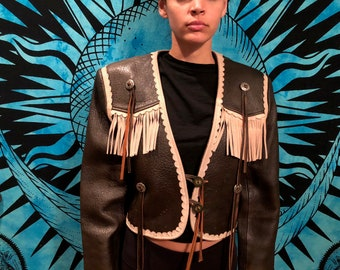 Vintage Fringe Leather Jacket