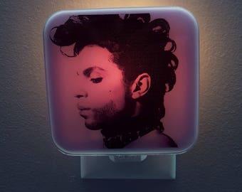 Prince Night Light, 80s, retro decor, purple rain, music memoriabilia, Pop art, 80s decor, 80s party, 80s birthday, plug in night light