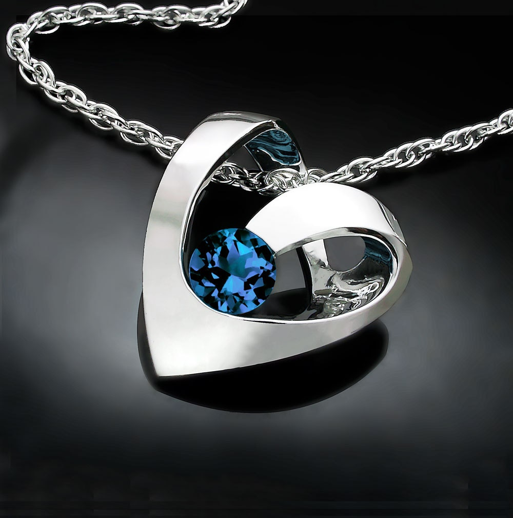 Alexandrite necklace alexandrite pendant june birthstone heart verbena place jewelry aloadofball Choice Image
