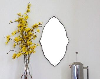 Oval Scalloped Mirror Handmade Wall Mirror Ornate Organic Wall Mirror Miroir
