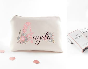Customized gift for bridesmaid Will you be my bridesmaid Personalized bridesmaid cosmetic bag Personalized bridesmaid gifts Customized gifts