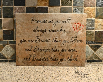 Promise me you will always remember, Girlfriend Gift, Friendship Gift, Gift for friend, Teen gift, Daughter gift, Inspirational Gift