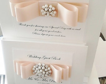 Wedding Post Box & Guest Book set