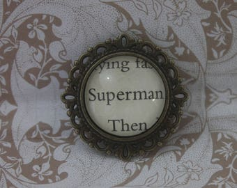 Superman Brooch ~ Clark Kent ~