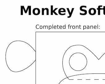 Monkey Plush Block Pattern
