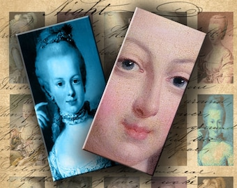 INSTANT DOWNLOAD Digital Collage Sheet Marie Antoinette 0.75 X 1.5 inch (Bamboo Size) - DigitalPerfection digital collage sheet 378