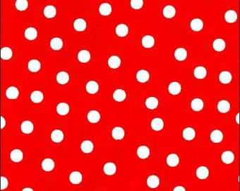 Oilcloth By The Yard White Dot On Red