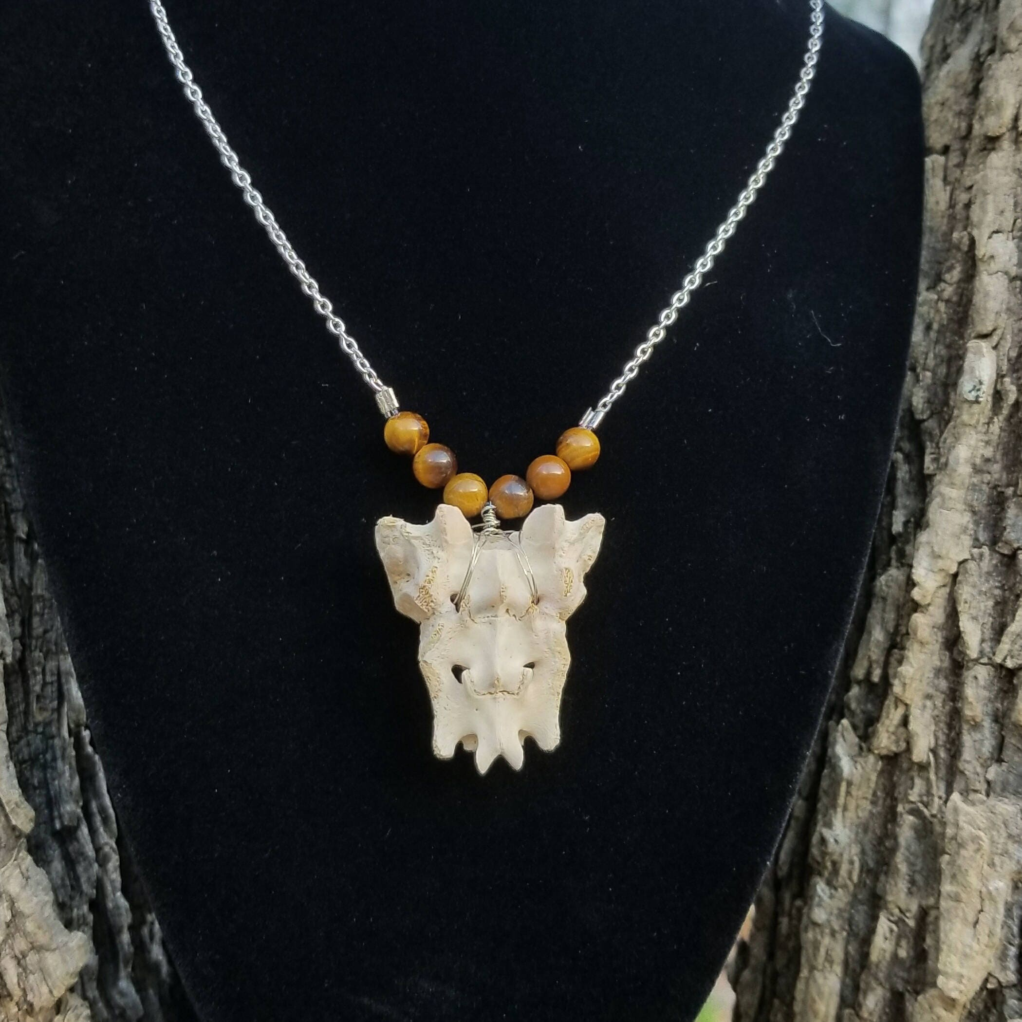 il listing fullxfull and crystal necklace bone real mini