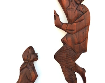 Teak Wall Art Mid Century Wood Carved Balinese Wall Art Meditation Room Teak Yoga Studio Decor Bohemian Decor