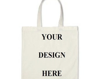 Custom Totes - Gift Bags - Promotional Totes - White Cotton Canvas Tote Bag - Wedding Favors