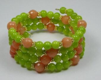 Summer Beaded Serpentine Bracelet Cuff