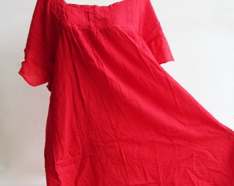 D24, Red Butterfly Effect Cotton Dress