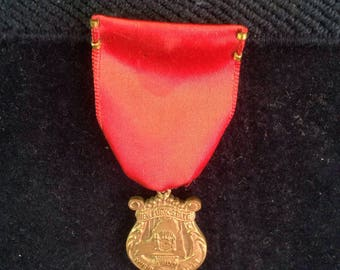 Vintage medal, New York State solo ensemble, music association, festival, award, pin, ribbon, medal.