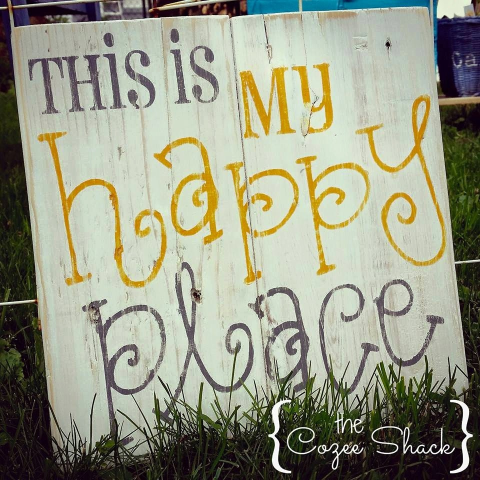 This is my Happy Place sign pallet sign wood sign wall