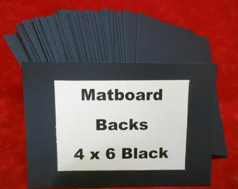 Noir passe-partout blancs (50) 4 x 6 passe-partout pour les Photos Art et l'artisanat