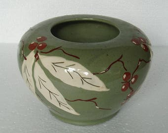 Rare Art Deco  Clews & Co, Tunstall,  Blue Chameleon Ware vase