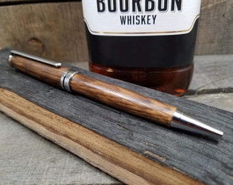 Whiskey Barrel Wood - Whiskey Barrel Pen - Wooden Pen - Wood Pen - Wooden Gift - Wood Gift - Ballpoint Pen - Writing Pen - Ballpoint Pen
