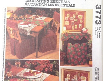 McCalls 3773 - Table Decor - Decorating Essentials - Home Decorating Pattern