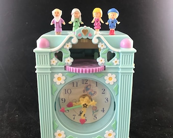 Vintage 1991 Bluebird Toys, Polly Pocket Funtime Clock. Complete and working!