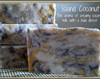 Island Coconut - Rustic Suds Natural - Organic Goat Milk Triple Butter Soap Bar - 5-6oz. Each