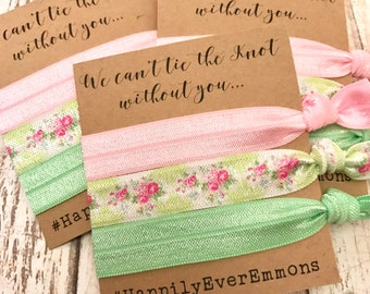 We Can't Tie The Knot Without You | Bridesmaid Proposal | Bridesmaid Hair Tie  Favors | To have and to hold your hair back
