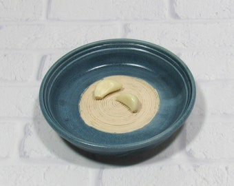 Garlic Grater - Pottery Garlic Grater - Ceramic Garlic Dish - Grating Bowl - Oil Dipping Dish - Appetizer Plate
