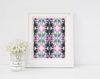 Patterned Purple Floral Art Print