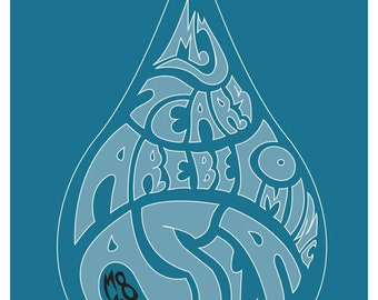 M83 My Tears Are Becoming A Sea Poster Print Type Poster Trippy Type Music Poster