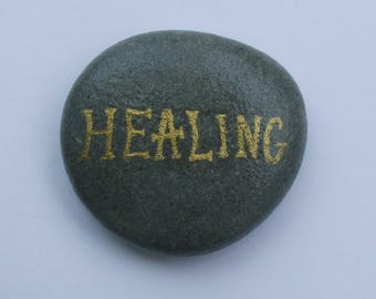 Healing Painting on Rock, Stone Art, Get Well Gift, Hand Painted Pebble, Healing Gift, Painted Stone, Pebble Art, Rock Painting, Get Well