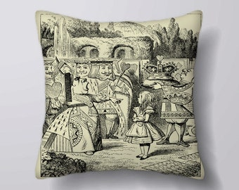 Alice In Wonderland Red Queen - Cushion Cover Case Or Stuffed With Insert