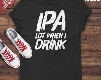 Ipa Lot When I Drink Beer Men's Running Shoes Fashion Sneaker