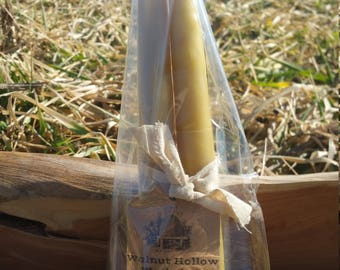 Beeswax candlestick set, beeswax candles, handmade candle set, hand made candlestick set