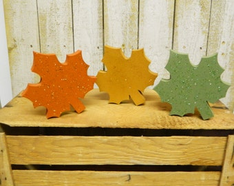 Set Of 3 Leaves (Shelf Sitters)