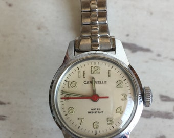 Vintage Caravelle Watch N7- Women's Water Resistant Winding Stretch Band
